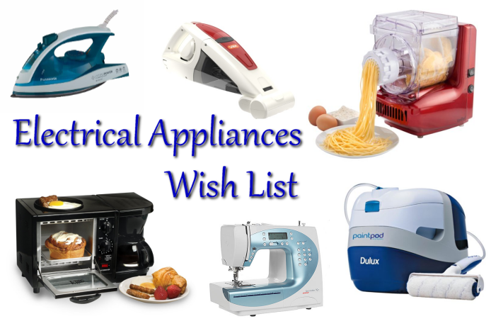 A Weekend Wish List - Electrical Appliances - Journeys Are My Diary