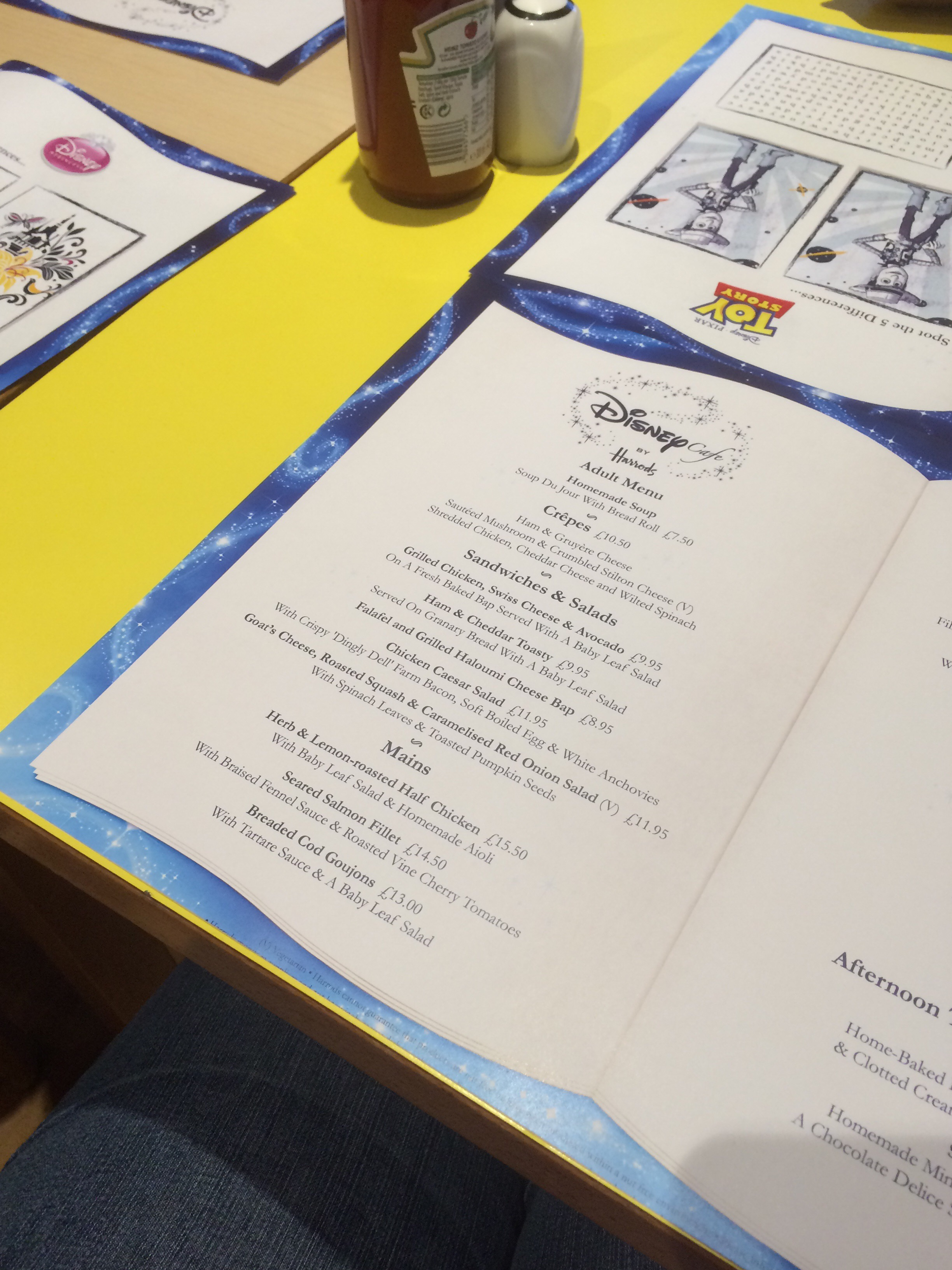 Disney Cafe Menu