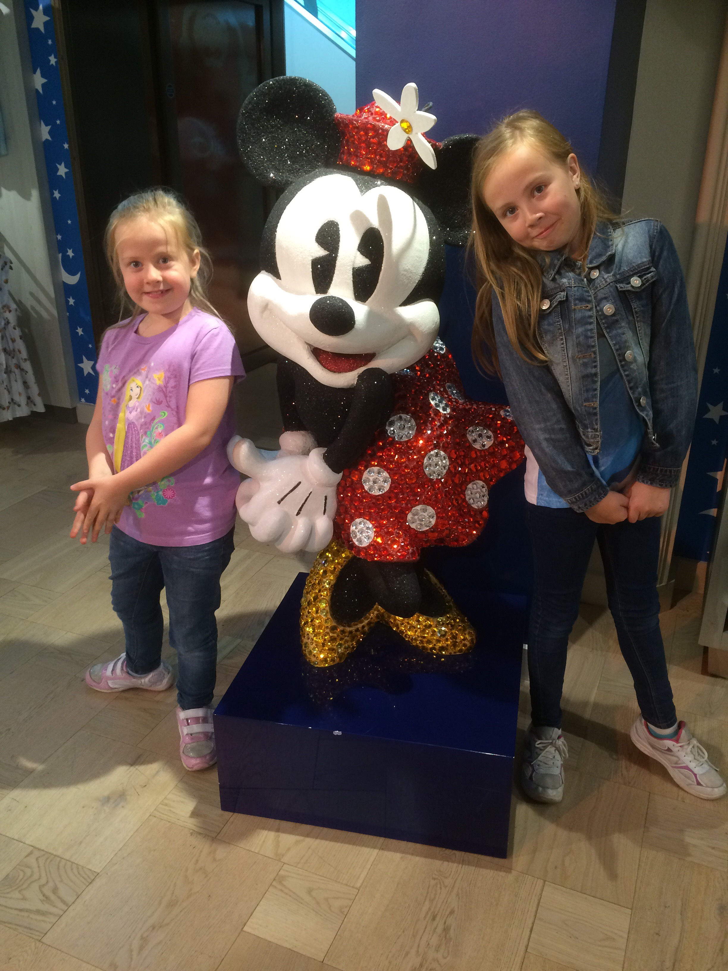Minnie Mouse in the Harrods Disney Store